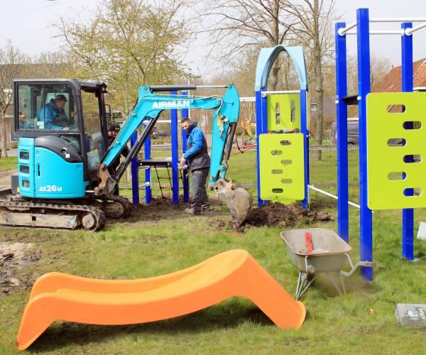 Speeltuin in centrum van Ferwert wordt compleet nieuw ingericht