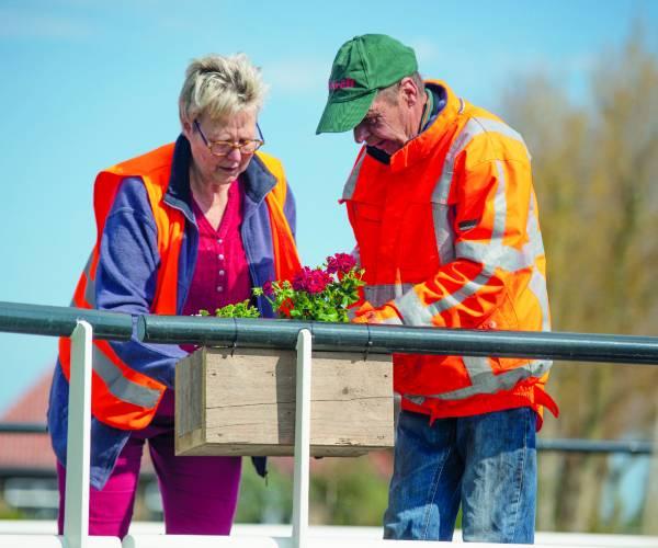 Geraniums in Tergrêft voor de leuk én voor veiligheid
