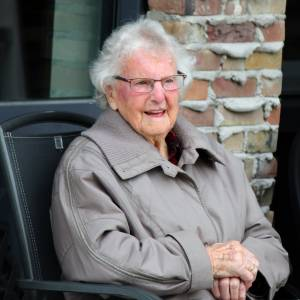 Miniconcert voor 102-jarige<br />Sjoukje de Haan-Wouda